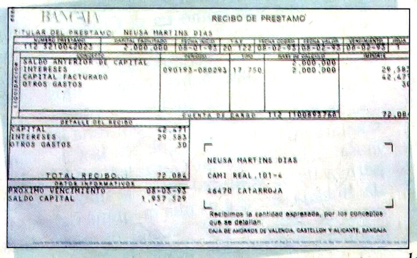 Recibo De Prestamo 02