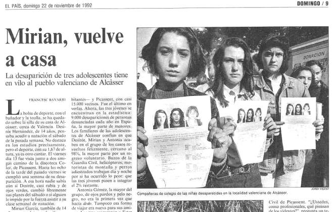 1992.11.22.01 Miriam, Vuelve A Casa. Cesar Cano Llacer